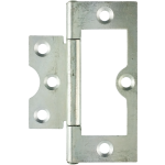 75mm Flush Hinge Bright Zinc