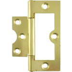75mm Flush Hinge Polished Brass