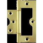 75mm Flush Hinge Polished Brass
