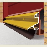 2.1m Garex Garage Door Draught Excluder Gold