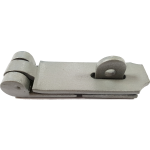 105mm Heavy Duty Hasp And Staple Grey Enamel