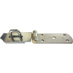 250 x 54mm Heavy Duty Hasp And Staple Bright Silver