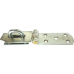 200 x 44mm Heavy Duty Hasp And Staple Bright Silver