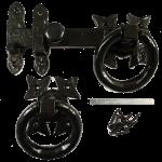 Black Iron Gothic Ring Door Handle Latch