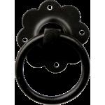 Black Iron Plain Ring Door Handle