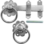 Plain Ring Gate Catch Bright Silver