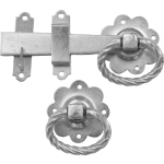 Twisted Ring Gate Catch Bright Zinc Plate