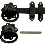 Twisted Ring Gate Catch Smooth Black