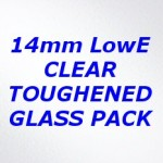 H2XG Toughened Clear Double Glazing Pack