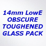 H2XG Toughened Obscure Double Glazing Pack