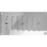 150mm x 75mm Ventilator Grill Polished Stainless Steel