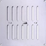 225mm x 225mm Ventilator Grill Polished Stainless Steel