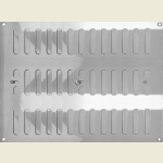 305mm x 225mm Ventilator Grill Polished Stainless Steel