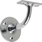 63mm Handrail Bracket Polished Chrome