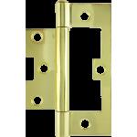 100mm Hurlinge Fixed Pin Butt Hinge Polished Brass