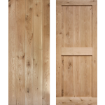 Framed Ledged Solid Oak Cottage Doors