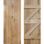 33 x 78 Ledged Braced  Solid Oak Cottage Door