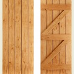 24 x 78 Solid Oak Button Bead Ledged Door