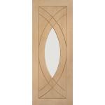 33 x 78 Treviso Oak Door with Clear Glass
