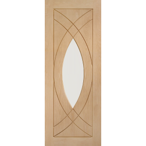 Treviso Oak Door with Clear Glass