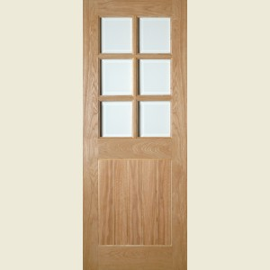 Ely Six Light Glazed Oak Doors