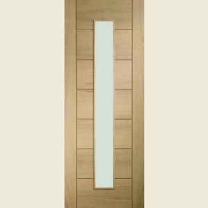 One Light Palermo Oak Doors Clear Glass