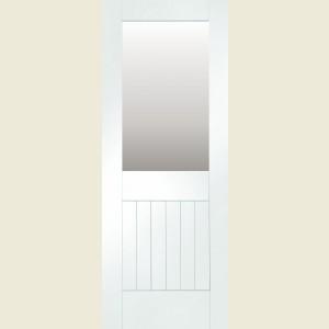 826 x 2040 White Suffolk Glazed Door & x 2040 White Suffolk Glazed Door
