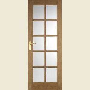 Internal Ten Light Oak Doors