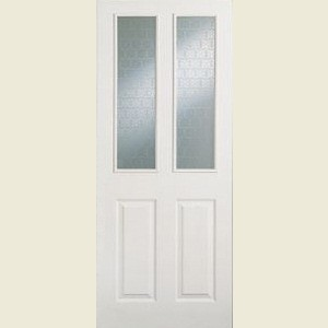 Two Light Etched Glazed Doors
