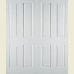 35&Half x 78 4 Panel Textured Double Doors