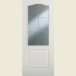 Six Light Arched Top Clear Glazed Textured Doors