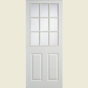 Nine Light Smooth Apertured Doors