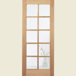 SA Ten Light Glazed White Oak Doors