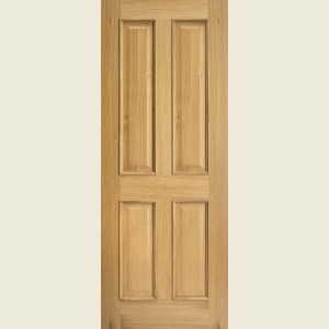 Regency Four Panel Bolection White Oak Doors