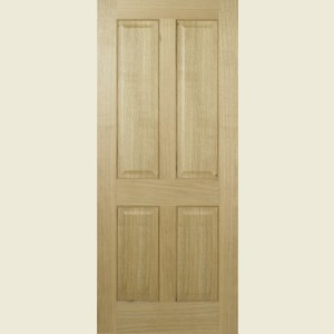 Regency Four Panel White Oak Doors
