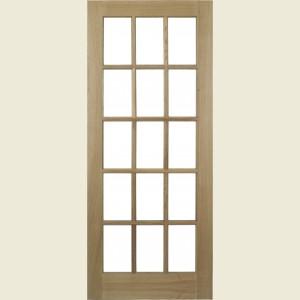 Pre Finished SA Glazed Oak Doors