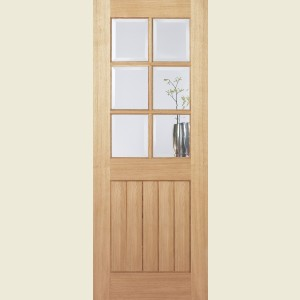 Mexicano Oak Six Light Glazed Doors