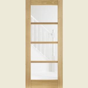 Four Light Glazed Oak Doors