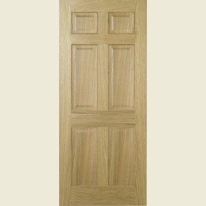 Pre Finished Regency Six Panel Oak Doors