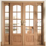 75 x 80 Oak Room Divider Set