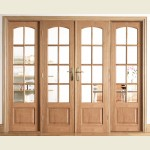 97 x 80 Oak Room Divider Set