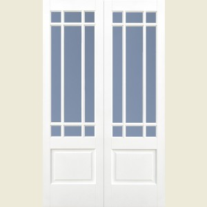 Downham Nine Light Glazed Double Doors