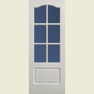 Kent Six Light Clear Glazed Doors White