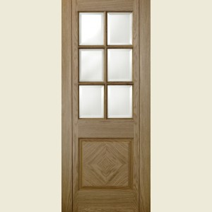 Barcelona Glazed Oak Doors