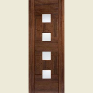 Quebec Glazed Walnut Doors