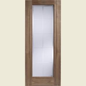 Seville Glazed Walnut Doors