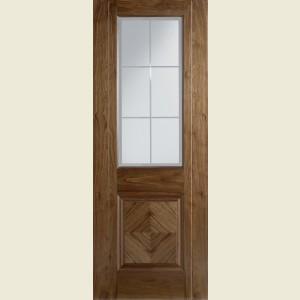 Valencia Glazed Walnut Doors
