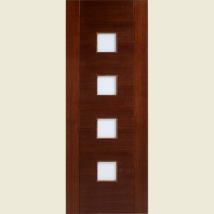 Vancouver Walnut Glazed Doors
