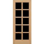 27 x 78 Hemlock SC 10-Light Door Unglazed