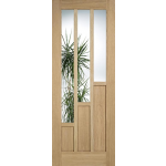 30 x 78 Coventry Oak Door with Clear Glass